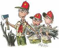 Boy Scout Image -- Arrogant Scouts