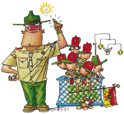 Boy Scout Image -- Boy Leaders