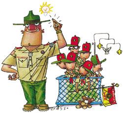 Boy Scout Image -- Boy Leaders