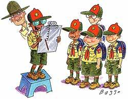 Boy Scout Image -- Boy Led Large Troops