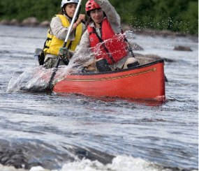 Boy Scout Image -- Canoing Rapids