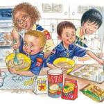 Boy Scout Image -- Cooking with kids
