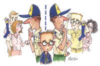 Boy Scout Image -- Divorce