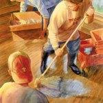 Boy Scout Image -- Flood Cleanup