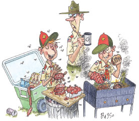 Boy Scout Image -- Food Handling