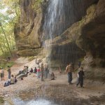 Boy Scout Image -- Hiking Waterfall