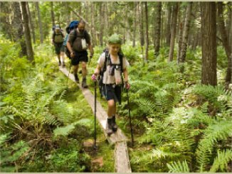Boy Scout Image -- Venture hiking