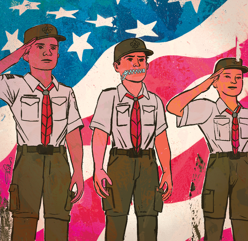 What to do when a Scout won't say the Pledge of Allegiance