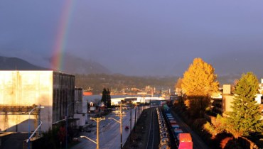 """The View From Your Window #152: East Van """"Magic Hour"""" Caramel (With Rainbow)"""