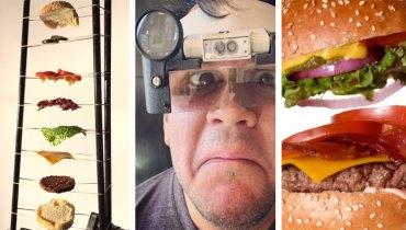 SMOKE BREAK #1179 | A Meticulous, Robot-Assisted Method Of Filming A Burger Cascade