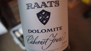 AWESOME THING WE DRANK #714   Raats Family Wines 2012 'Dolomite' Cabernet Franc