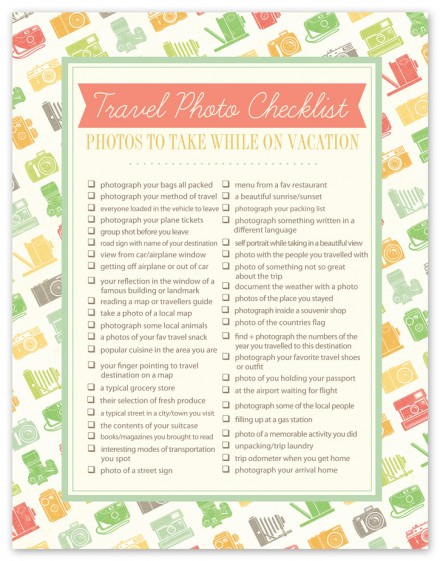 This handy photo checklist from Rebecca Cooper at Simple as That will ...