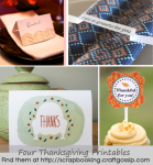 Freebie | Four Last Minute Thanksgiving Printables