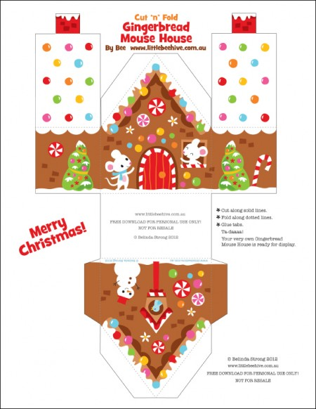 Candid image throughout gingerbread house printable