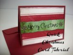 Tutorial | Lightning Fast Christmas Card from Summer Scraps