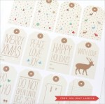 Freebie | Free Gift Tags & Customizable Greeting Card by Love vs. Design