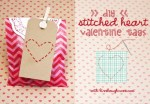 Tutorial | Stitched Heart Tags for Valentine's Day