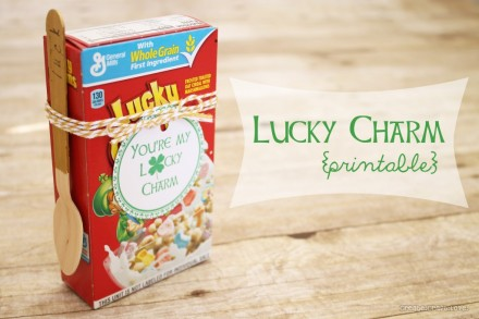 Lucky Charm printable from Create Craft Love