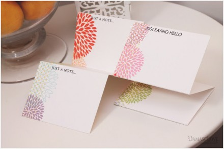 Tutorial - Perforated Note Cards and Envelope Set from Damask Love