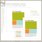 Freebie | Layered Template and Journal Card from Cathy Zielske