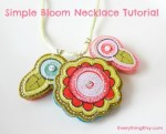 Tutorial | Bloom Charms & Necklace from Scrapbooking Stickers