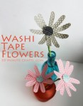 Tutorial | Washi Tape Flowers