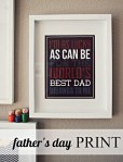 Freebie | Printable Poster for Father's Day