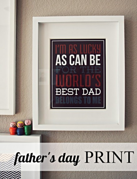 Free Father's Day Printable Poster from Eighteen25