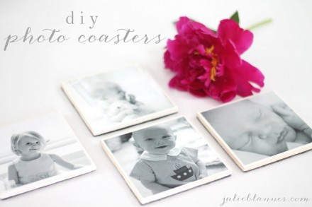 Tutorial - DIY photo coasters by Julie Blanner