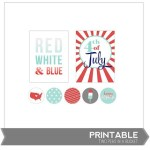 Freebie | Printables for Scrapping the 4th of July