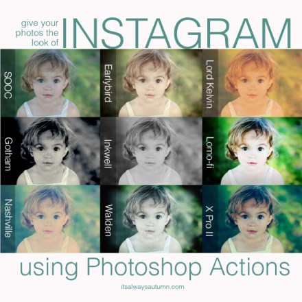 Tutorial - instagram filters using photoshop actions