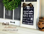 Freebie | Fall Chalkboard Printable Poster