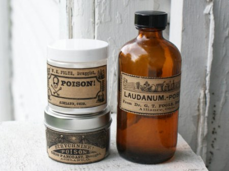 Freebie - printable vintage poison labels for Halloween by Soap Deli News