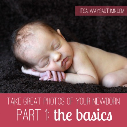 Photography for Scrapbookers - how to photograph your newborn at it's always autumn