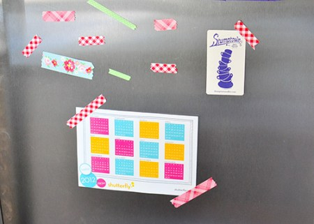 Tutorial - Washi Tape Magnets by The Cheese Thief
