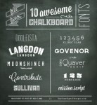 Freebie | 10 Chalkboard Fonts