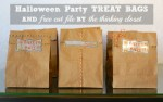 Freebie | Cut File for Halloween Treat Bags