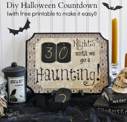 Tutorial & Freebie - Diy-Halloween-Countdown by The Mother Huddle