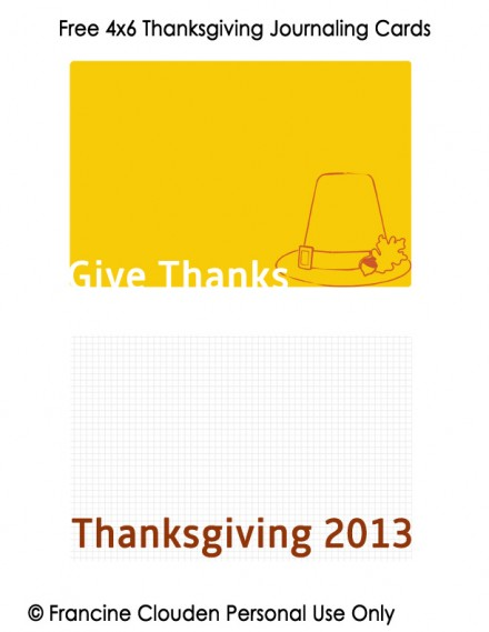 4x6 Thanksgiving Journaling Cards copy