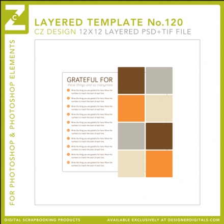 Freebie - Grateful For...Layered Template from CZ Designs