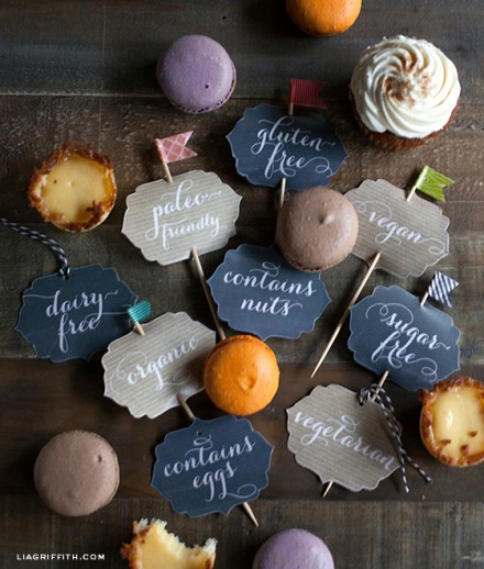 Freebie - Food Ingredient Tags for Thanksgiving Dinner from Lia Griffith