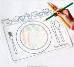 Freebie | Printable Thanksgiving Placemat for Kids
