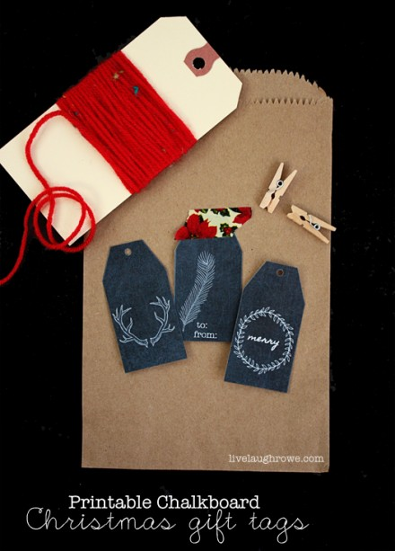 Freebie - Printable Chalkboard Gift Tags from Live, Laugh, Rowe