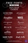 Freebie | Fonts for DIY Holiday Cards