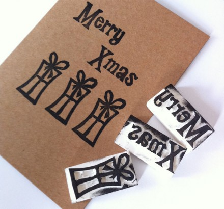 Tutorial - DIY Christmas Stamps at Claireabelle Makes