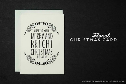 freebie - Printable Christmas Card from Minted Strawberry