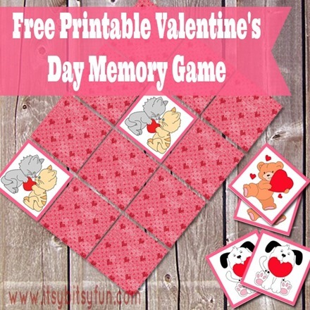 Freebie - Printable Valentine's Day Memory Game from Itsy Bitsy Fun