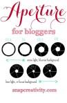 Photography for Scrapbookers | Understanding Aperture