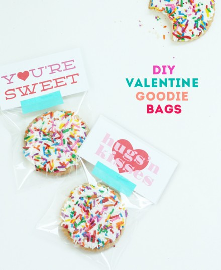 DIY valentine goodie bags by The Sweet Escape