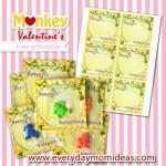 Freebie | Printable Monkey Valentines